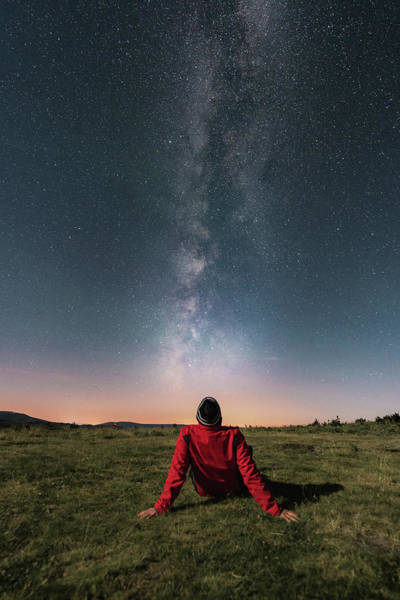 Galicia Photograph - Watching The Milky Way by Carlos Fernandez