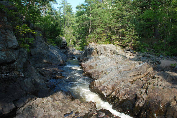 Baraga Photograph - Watching The River Flow Downstream No.2 by Janice Adomeit