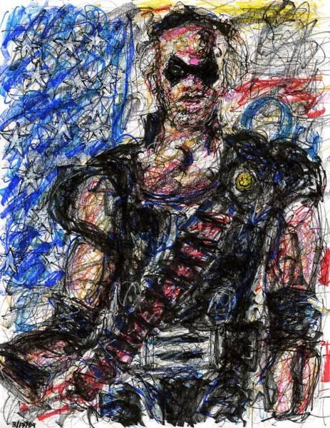 Drawing - Watchmen - The Comedian by Rachel Scott