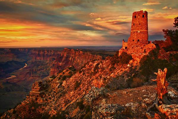 Wall Art - Photograph - Watchtower Sunset by Priscilla Burgers