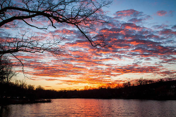 Somerset County Photograph - Watchung Lake Sunset by Patricia Vesey