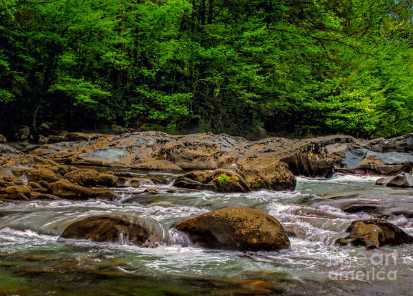 Photograph - Water And Boulders by Dave Bosse