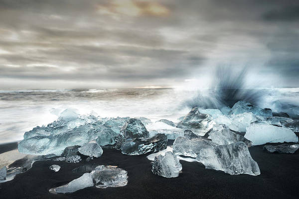 Wall Art - Photograph - Water And Ice ! by Alfred Forns