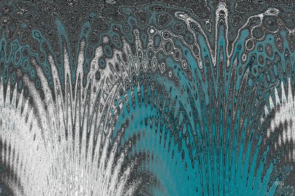 Digital Art - Water And Ice - Blue Splash by Ben and Raisa Gertsberg