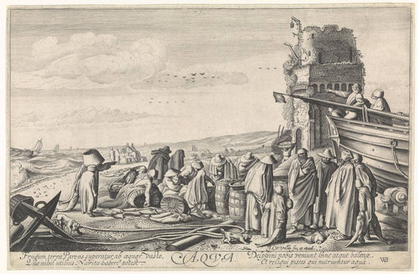 Aqua Drawing - Water Aqua, Jan Van De Velde II by Jan Van De Velde (ii)