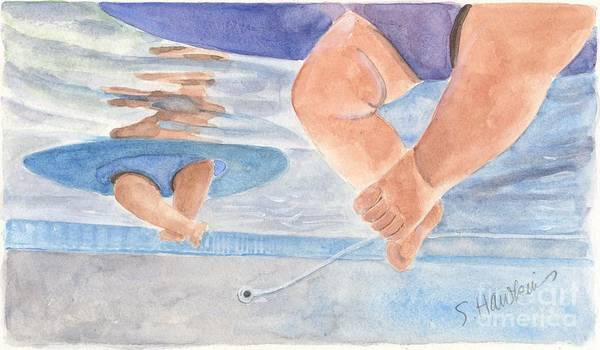 Wall Art - Painting - Water Babies by Sheryl Heatherly Hawkins