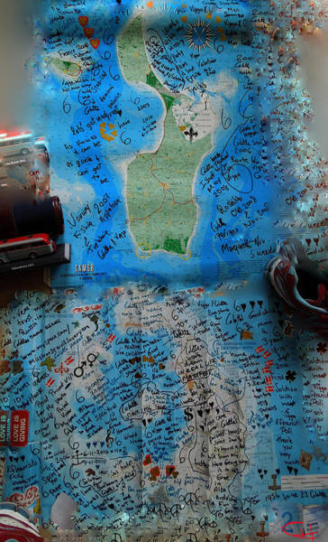 Photograph - Water Bottle Post Santorini Samsoe Island Colettes Inner And  Out Life Track Road  by Colette V Hera  Guggenheim