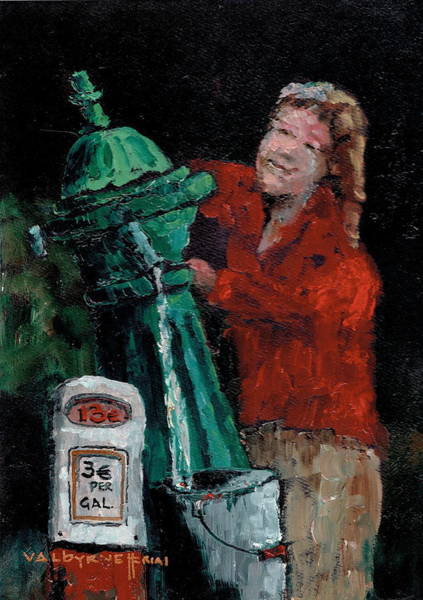 Painting - Water Charges by Val Byrne