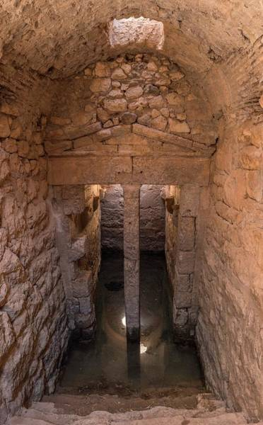 City Of David Photograph - Water Cistern In Acrocorinth. by David Parker/science Photo Library