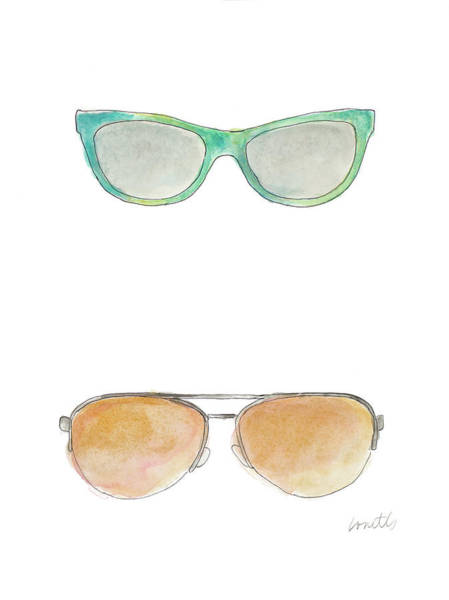 Sunglasses Painting - Water Color Sunglasses II by Lanie Loreth