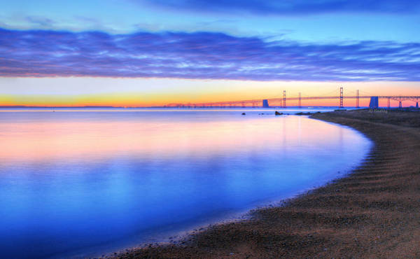 Sandy Point State Park Photograph - Water Colors by JC Findley