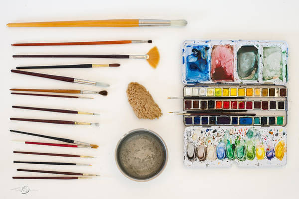 Photograph - Water-colour Tools by Torbjorn Swenelius