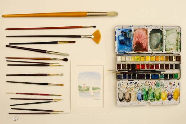 Photograph - Water-colours by Torbjorn Swenelius