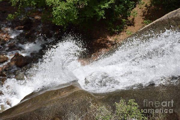 Helen Hunt Falls Photograph - Water Curl by Shar Schermer