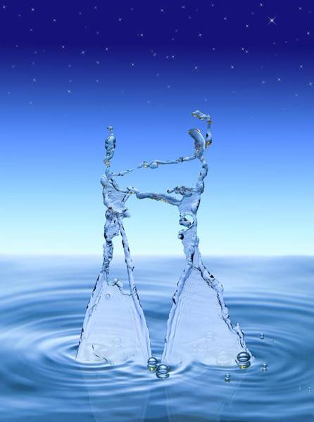 Dancing Water Photograph - Water Dancers by Paul Rapson/science Photo Library