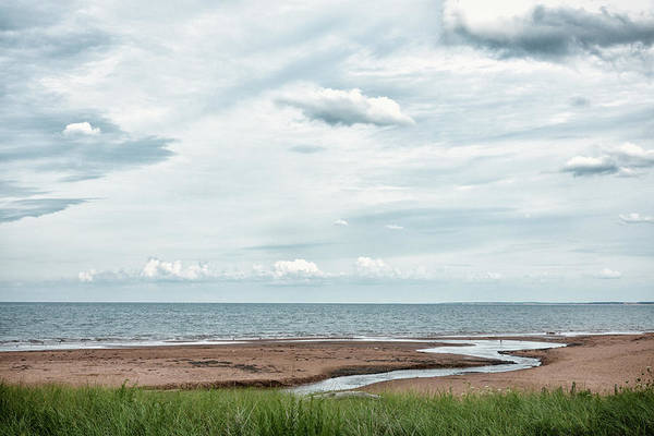 Prince Edward Island Photograph - Water Flowing Into Ocean by Elisabeth Pollaert Smith