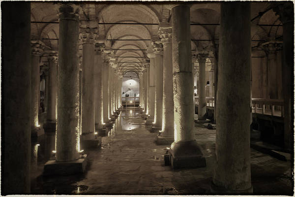 Basilica Cistern Photograph - Water From The Ages by Joan Carroll