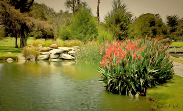 Country Club Painting - Water Hazard Santa Maria Country Club 2 by Barbara Snyder