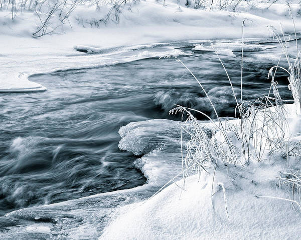 Finland Photograph - Water, Ice And Snow by Gun-marie Wiis