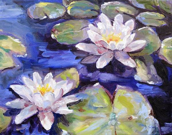 Wall Art - Painting - Water Lilies by Donna Tuten