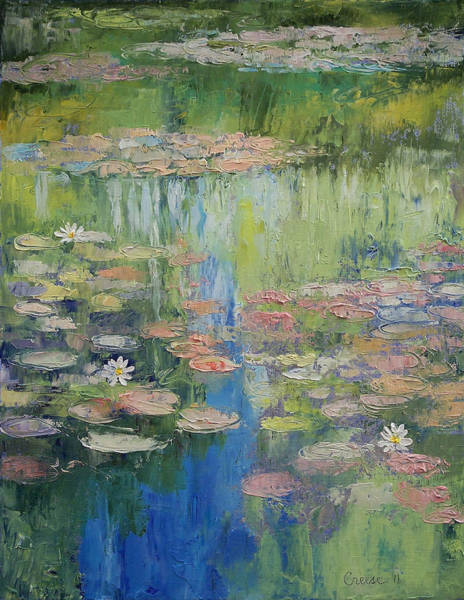 Delicate Painting - Water Lily Pond by Michael Creese