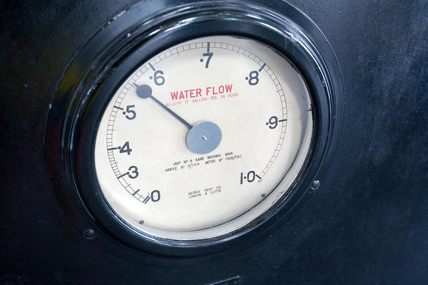 Dials Photograph - Water Meter by Adam Hart-davis/science Photo Library