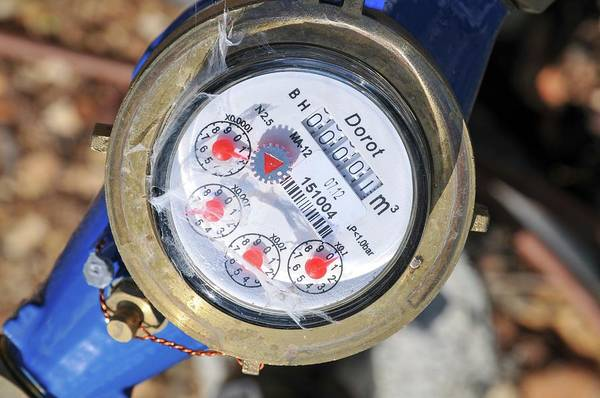 Israel Photograph - Water Meter by Photostock-israel/science Photo Library