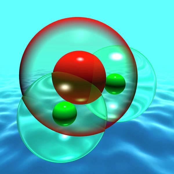 Water Molecule Art Print
