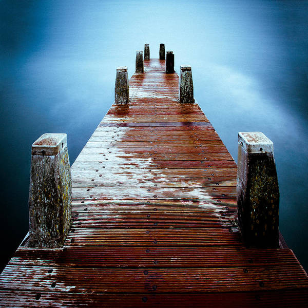 Wooden Bridge Photograph - Water On The Jetty by Dave Bowman