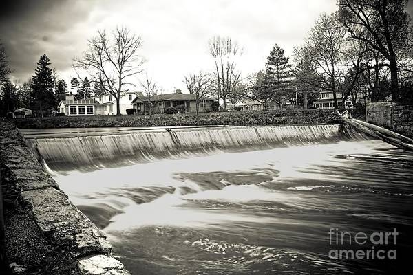 Photograph - Water Over The Dam by Jim Lepard