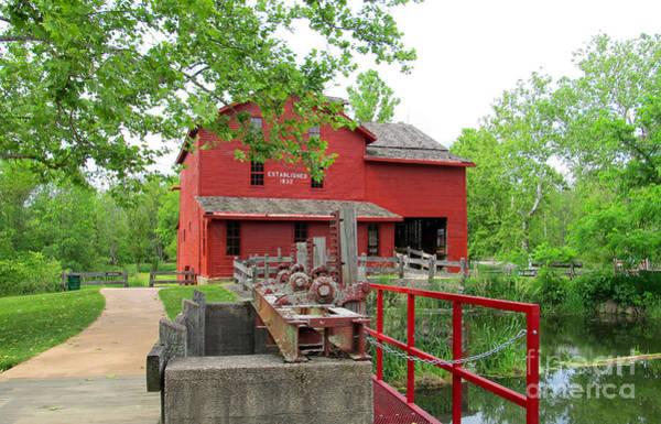Bonneyville Mill Wall Art - Photograph - Water Pumping Area by Tina M Wenger