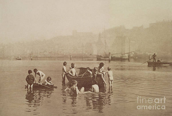 Dinghies Photograph - Water Rats by Frank Meadow Sutcliffe