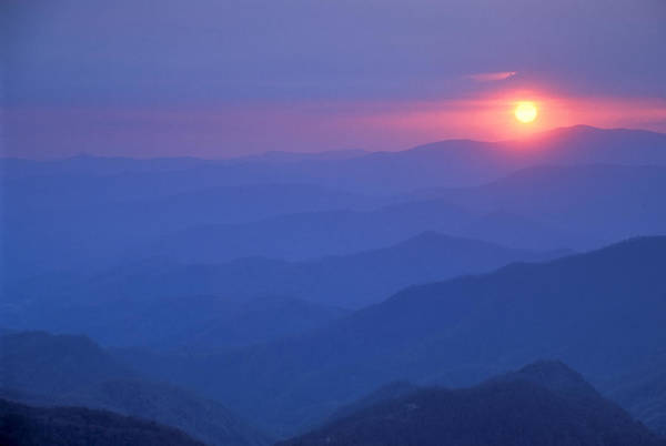 Photograph - Water Rock Knob Sunset by Jim Dollar