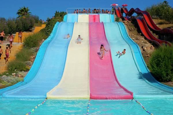 Slide Photograph - Water Slide by Mark Williamson