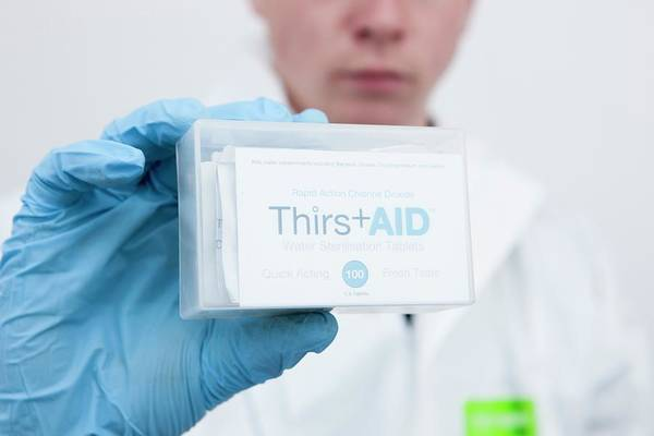 Thirst Photograph - Water Sterilisation Tablets Kit by Lewis Houghton/science Photo Library