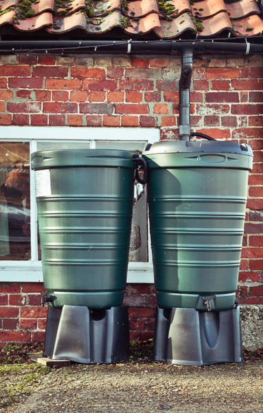 Drainage Photograph - Water Tanks by Tom Gowanlock