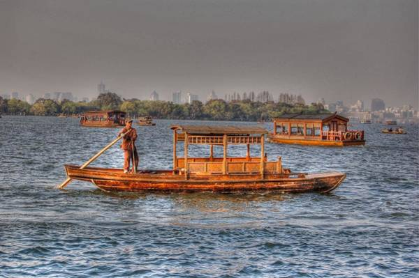 Photograph - Water Taxi In China by Bill Hamilton