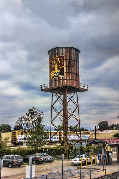 Digital Art - Water Tower by Photographic Art by Russel Ray Photos
