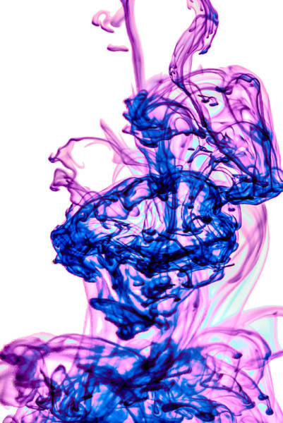 Photograph - Water Trails - Blue And Purple by  Onyonet  Photo Studios