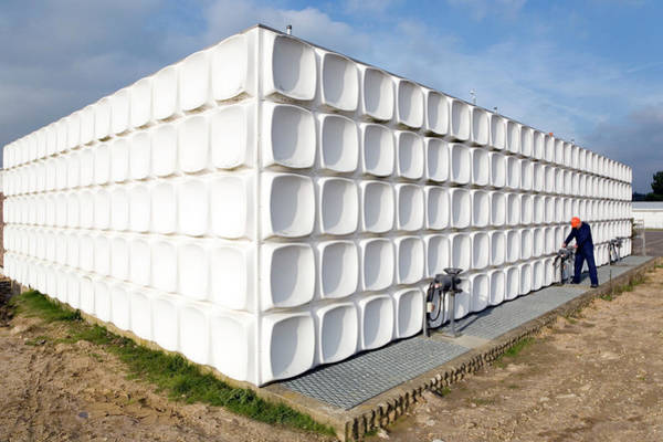 Southampton Water Wall Art - Photograph - Water Treatment Clarifier Tank by Paul Rapson/science Photo Library