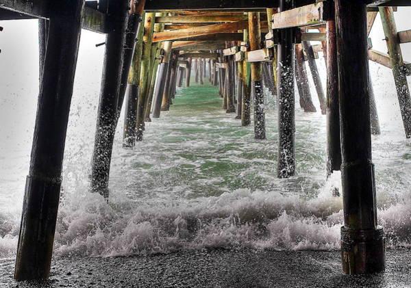 Under The Pier Photograph - Water Under The Pier by Richard Cheski