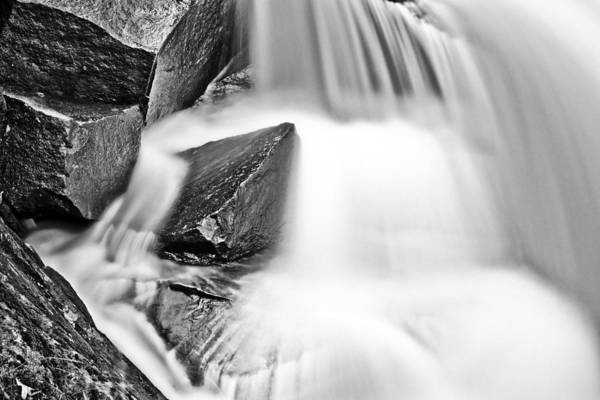 Photograph - Water Vs Stone Bw by Patrick M Lynch