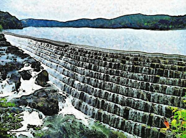 Painting - Water Wall by Derek Gedney
