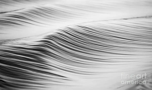 Photograph - Water Waves Abstract Black And White by Dustin K Ryan