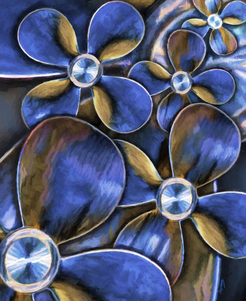 Wall Art - Painting - Water Wheels by David Wagner