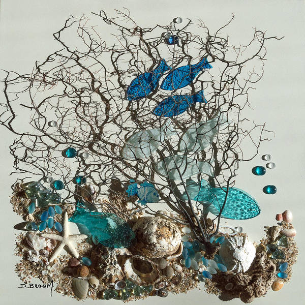 Broom Mixed Media - Water World Series1 by Dawn Broom