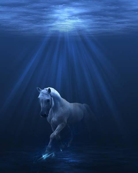 Digital Art - Water World Ice Horse by Gordon Engebretson