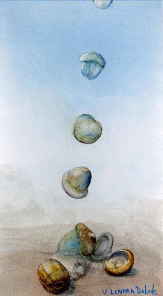 Painting - Watercolor Acorn Falls by Lenora  De Lude