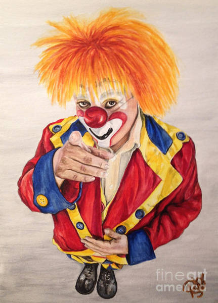 Painting - Watercolor Clown #19 Misael Hernandez by Patty Vicknair