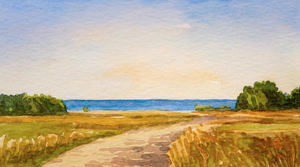 Painting - Watercolor Coast by Lutz Baar